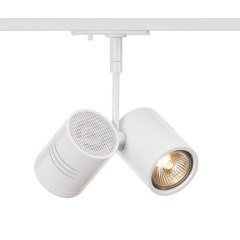 SLV 143431 Bima II Spot Light White Dimmable, requires 2 x GU10 LED