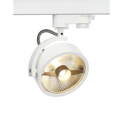 SLV 152611 KALU TRACK QPAR111 lamp head White incl. 3-circuit adator