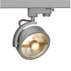 SLV 152614 KALU TRACK QPAR111 lamp head Silver Grey, Dimmable, requires ES111 LED lamp