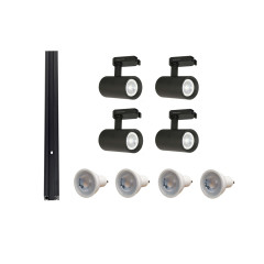 MLS 800142 Tube x 4 Track Kit Black