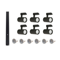 MLS 800143 Tube x 6 Track Kit Black