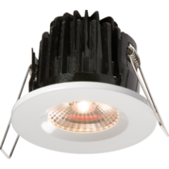 EMFRCOBWW White Emergency Fire Rated IP65 Downlight Warm White