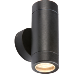 MLS UDGU10BK Up Down Black Powder Coated GU10 Wall Light