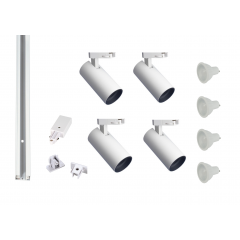 MLS 800172 Shooter x 4 Track Kit White (2m Track Kit) Dimmable