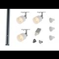 MLS 800165 Puri Glass x 3 Track Lighting Kit Silver Grey (1m Track Kit) Dimmable