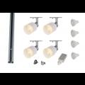 MLS 800168 Puri Glass x 4 Track Lighting Kit Silver Grey (2m Track Kit) Dimmable