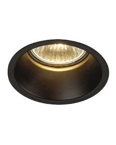 SLV 112910 HORN Downlight Matt Black, dimmable, requires GU10 lamp