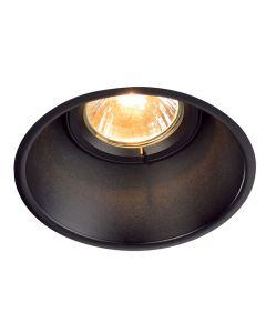 SLV 113140 Horn-T Adjustable GU10 Steel Matt Black, dimmable, requires GU10 lamp