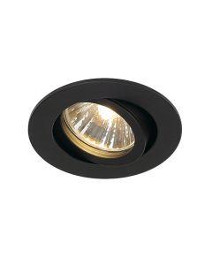 SLV 1001980 New Tria 68 Adjustable Downlight Matt Black, dimmable, requires GU10 lamp