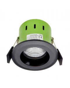 Greenbrook ADVAG3000W 9W IP65 Anti Glare LED Fire Rated Matt Black Fixed Warm White