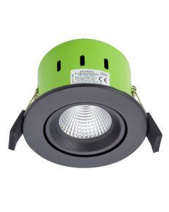 Greenbrook ADVT3000W 9W IP65 Tilt LED Fire Rated Matt Black Adj Warm White
