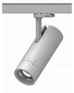 Zoom Major Grey Multi Circuit Track Spot Dimmable Adjustable beam 15 - 60 degree CRI90