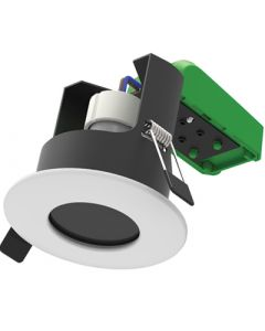 Vela Fire Rated Downlight GU10 IP65 White, dimmable requires GU10 lamp