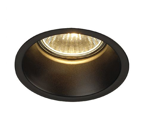 SLV 112910 HORN Downlight Matt Black, dimmable, requires GU10 lamp
