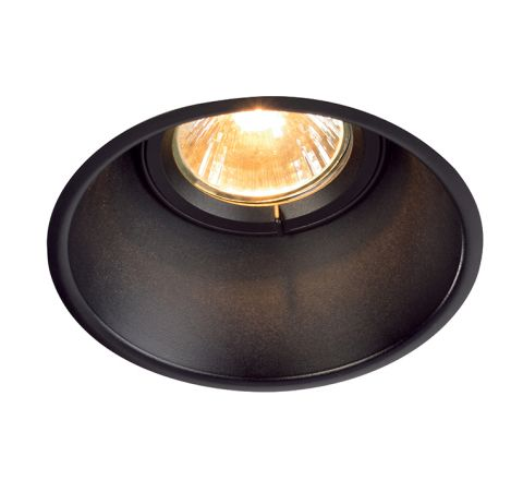 SLV 113140 Horn-T Adjustable GU10 Steel Matt Black, dimmable, requires GU10 lamp