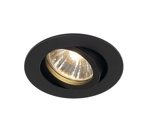 SLV 1001980 New Tria 68 Adjustable Downlight Matt Black, dimmable, requires GU10 lamp