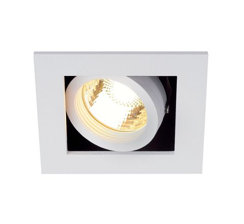 SLV 115511 Kadux 1 GU10 Square Adjustable Matt White 50W