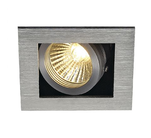 SLV 115516 KADUX 1 Adjustable Alu Brushed, dimmable, requires GU10 lamp