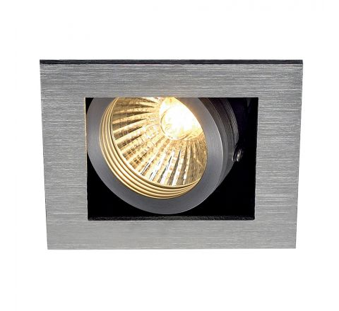 MLS 115516FR Kadux 1 Fire Rated Square Alu Brushed, dimmable, requires GU10 lamp