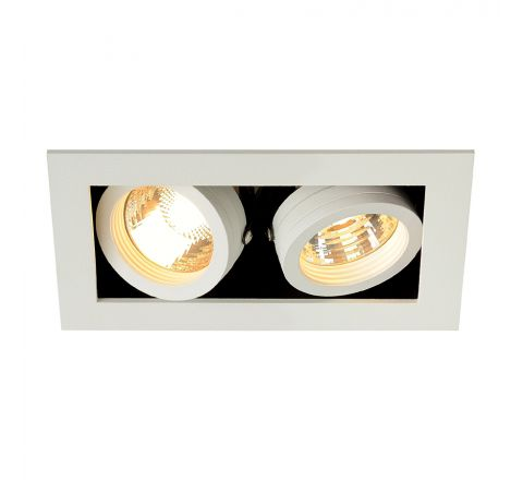 MLS 115521FR Kadux 2 Fire Rated White, dimmable, requires GU10 lamps