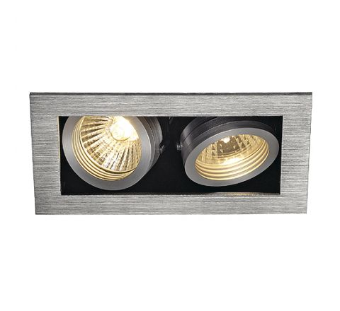 SLV 115526 KADUX 2 Adjustable Alu Brushed, dimmable, requires GU10 lamps