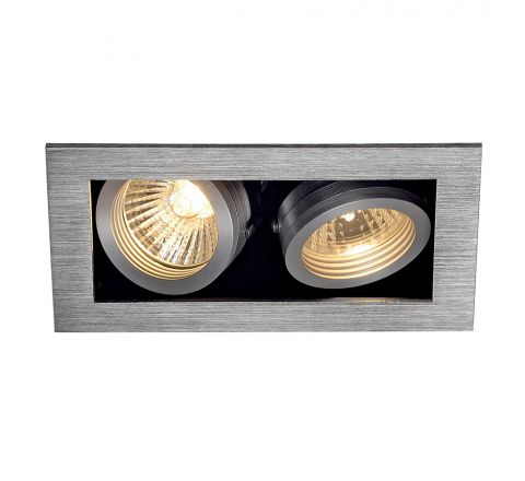 MLS 115526FR Kadux 2 Fire Rated Alu Brushed, dimmable, requires GU10 lamps