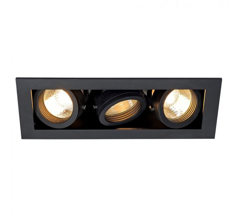 MLS 115530FR Kadux 3 Fire Rated Matt Black, dimmable, requires GU10 lamps