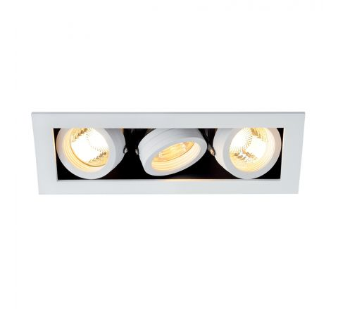MLS 115531FR Kadux 3 Fire Rated White, dimmable, requires GU10 lamps