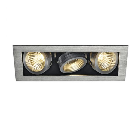 SLV 115536 KADUX 3 Adjustable Alu Brushed, dimmable, requires GU10 lamps
