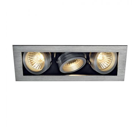MLS 115536FR Kadux 3 Fire Rated Alu Brushed, dimmable, requires GU10 lamps