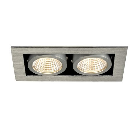 SLV 115716 Kadux LED Alu Brushed 2 x 6.2W 3000K Dimmable Driver Incl