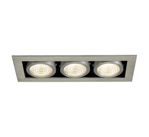 SLV 115726 Kadux LED Alu Brushed 3X 6.2W 3000K Dimmable Driver Incl