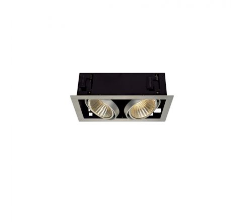 SLV 115746 Kadux LED XL Square Alu Brushed 2 x 24.5W 3K Dimmable Driver Incl
