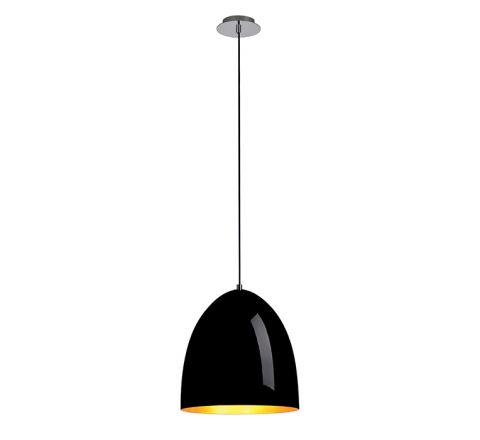 SLV 133060 PARA CONE 30 Black/ Gold, dimmable, requires E27 lamp