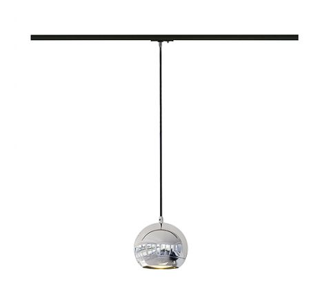 SLV 143620 Light Eye pendant Chrome for Track, Dimmable, Requires QPAR111 LED