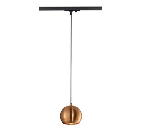 SLV 143629 LIGHT EYE pendant Copper for Track, Dimmable, Requires QPAR111 LED