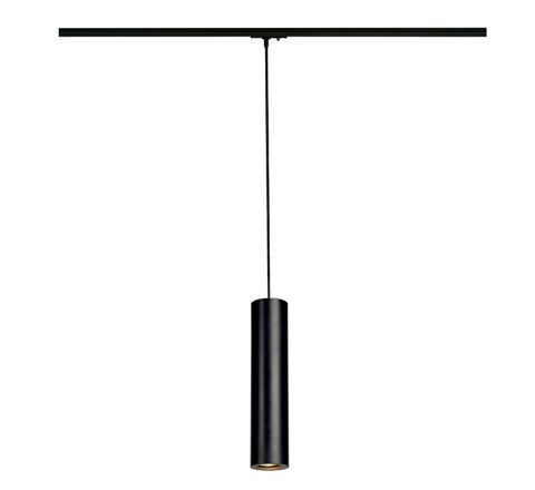 SLV 143960 Enola-B Black Pendant Track Light, Dimmable, Requires GU10 LED Lamp