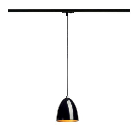 SLV 143990 Para Cone 14 Black/Gold Track Light Fitting, Dimmable, Requires GU10 LED Lamp