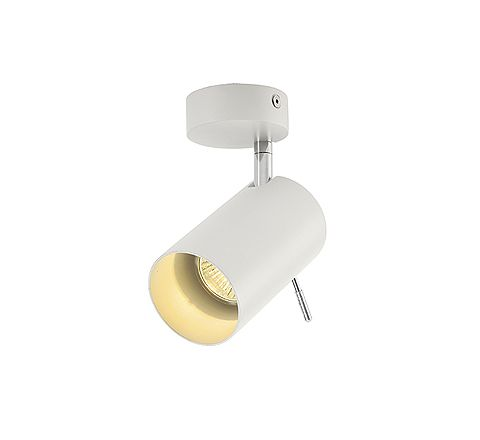 SLV 147411 ASTO TUBE I ceiling luminaire White, dimmable, requires GU10 lamp