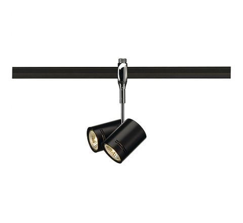 SLV 185440 BIMA 2 lamp head for EASYTEC II Chrome,  Dimmable, Requires 2 x GU10 LED
