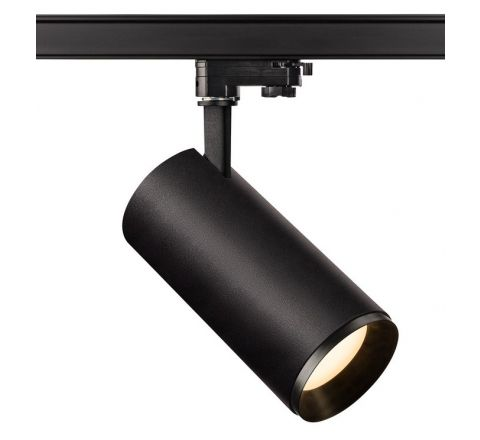 Tube 20W Black Dimmable Multi Circuit Track Spot