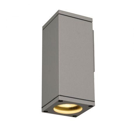 SLV 229524 Square Silver Grey GU10 35W