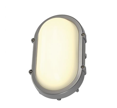 SLV 229924 TERANG wall and ceiling luminaire oval Silver 8W LED 3000K