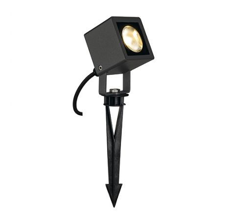 SLV 231035 SMALL Square LED spot Square shape anthracite 6W LED Warm White