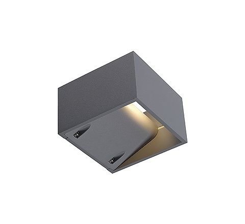 SLV 232104 LOGS WALL wall lamp Square Silver Grey 6W LED Warm White