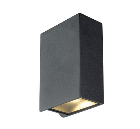 SLV 232445 Square anthracite 2 x 3.2W COB LED 3000K IP44 up/down