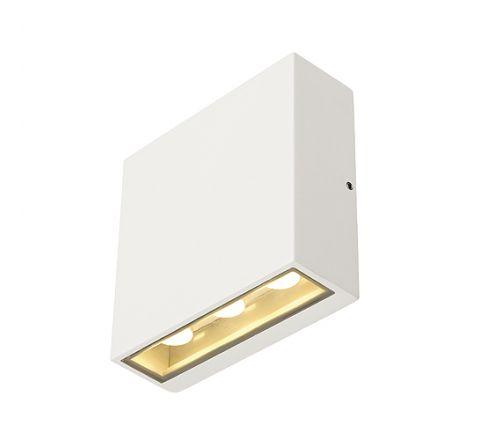 SLV 232451 BIG QUAD wall luminaire Square shape White 6x 1W LED Warm White