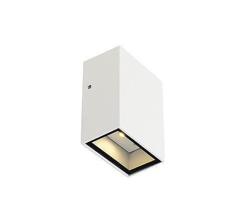 SLV 232461 QUAD 1 wall lamp Square White LED 1x3W Warm White