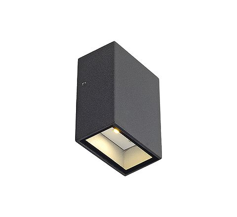 SLV 232465 QUAD 1 wall lamp Square anthracite LED 1x3W Warm White