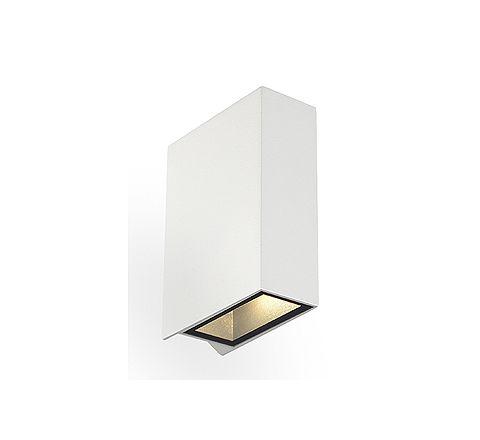 SLV 232471 QUAD 2 wall lamp Square White LED 2 x3W Warm White